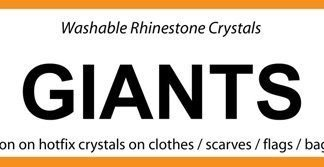 AFL GIANTS iron on crystals sport team names 50% OFF
