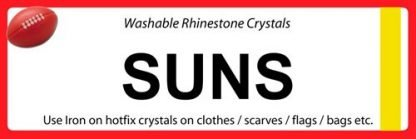 AFL SUNS iron on crystals sport team names