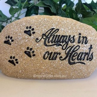 Dog / Cat Pet Memorial Rock Shape Plaque Garden Statue