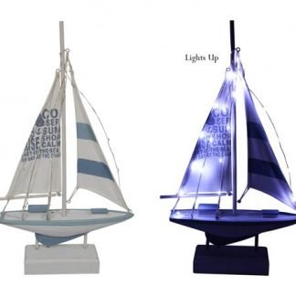 sail boat with lights