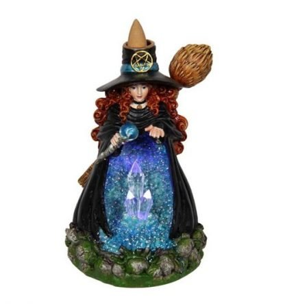 Witch Backflow Burner LED Light Up Witch Statue