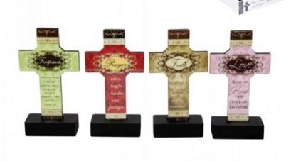 Standing Religious Cross w/ Message