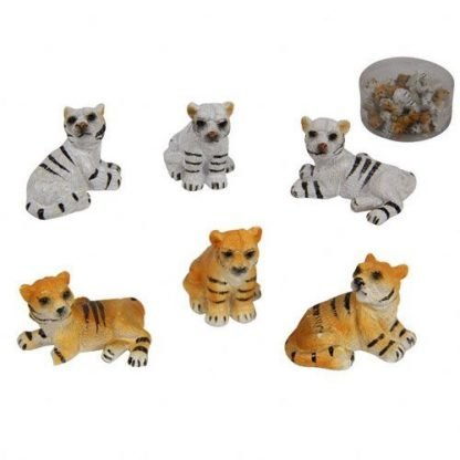 24pc Miniature TIGER Fairy Garden or Cake Decoration