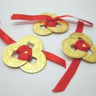 3 SETS i-Ching Lucky 3 COINS Wealth Prosperity Success Good Luck Charm
