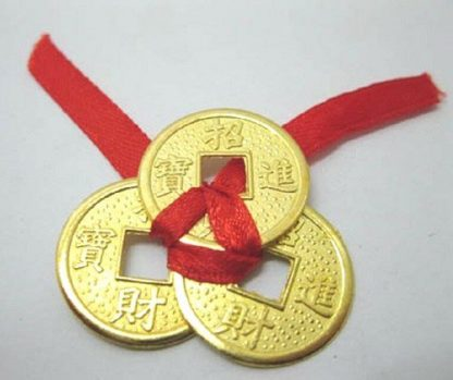 i-Ching Lucky 3 COINS Wealth Prosperity Success Good Luck Charm
