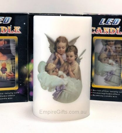 Angels Candle LED Flickering Flame Candle Religious Church Candle