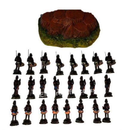 Australian Aboriginal Statues with Rock Display Miniature SET
