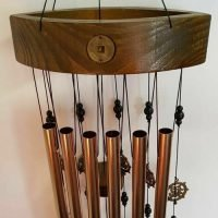 Feng Shui Harmony Bells Bow Top Good Fortune Wind Chime