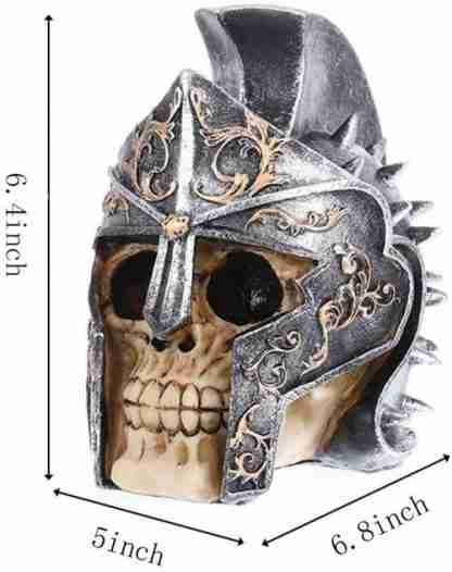 Gladiator Helmet Skull Statue Figurine Collectable