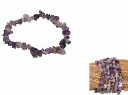 Amethyst Gemstone Chip Bracelet Healing & Balancing Bracelet