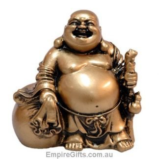 Laughing Buddha Antique Gold Buddha Statue