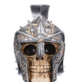 Gladiator Helmet Skull Statue Figurine Collectable