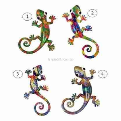 1 x 25cm Lizard Gecko Multicoloured Hanging Wall Art