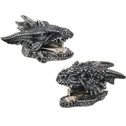 2 x Dragon Head Stapler Mythical Novelty Collectable