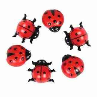 18pc Miniature Ladybird Ladybug Fairy Garden Ornaments