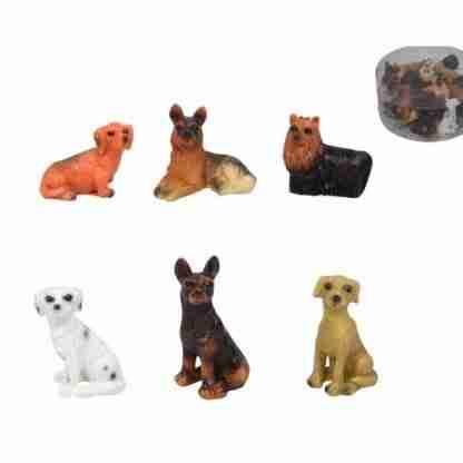 24pc Miniature DOGS Figurine Fairy Garden Statue Cake Decoration
