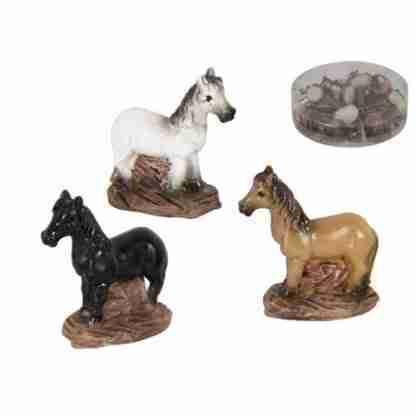 24pc Miniature Horse Figurine Fairy Garden Statue Cake Decoration