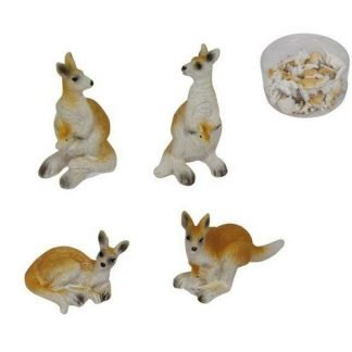 24pc Miniature Kangaroo Figurine Fairy Garden Statue Cake Decoration