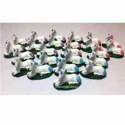 24pc Miniature Unicorn Statues Fairy Garden Cake Decoration