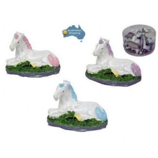 24pc Miniature Unicorn Statues Fairy Garden Cake Decoration
