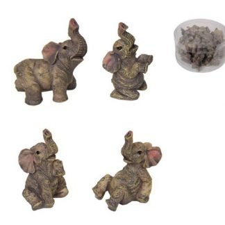 24pc Miniature Baby Elephants Figurine Fairy Garden Statue Cake Decoration