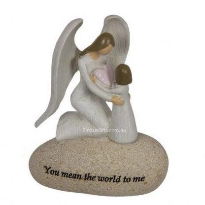"""1pc Angel Figurine Inspirational Words """"You mean the world..."""""""