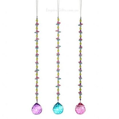 Crystal Glass Ball and Beads Hanging Suncatcher