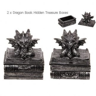 Dragon Statue Books Guardian Jewelry Box Treasure Chest Box Collectable