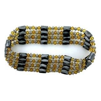 Health Magnetic Hematite Wrap Acrylic Crystal Bracelets Necklace