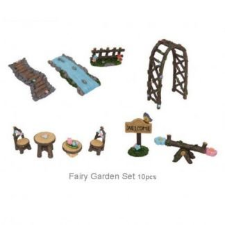 10pc Fairy garden furniture set