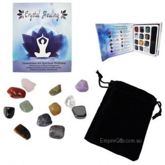 12pc healing gemstones gift boxed
