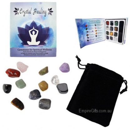 12pc healing gemstones gift boxed