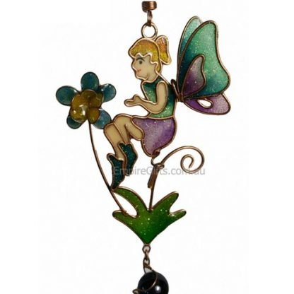 1pc Fairy Flower Wind Chime w Beads Garden Hanging Mobile