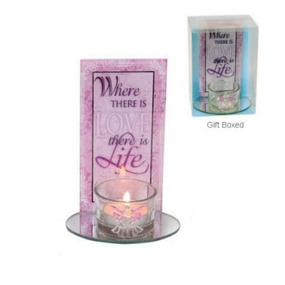 Love quote candle