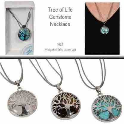 1pc Tree Of Life Gemstone Healing Pendant Reiki Protection Necklace