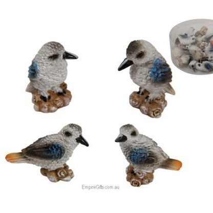 24pc Miniature Kookaburra Bird Figurine Garden Statue Cake Decoration