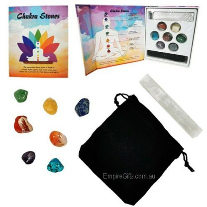 9pc healing gemstones gift boxed