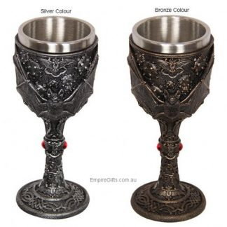 1pc Gothic Bat Goblet Wine Chalice Collectable