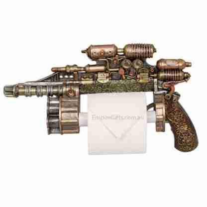 Steampunk Gun Toilet Roll Holder