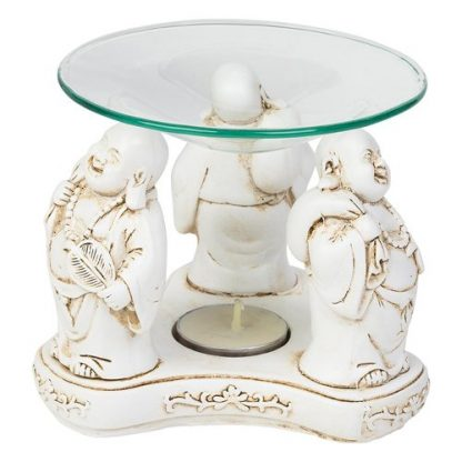 Happy Laughing Buddha Oil Burner Candle Holder Fragrance Wax Melts