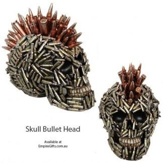 1pc Skull Ammo Bullet Head Mohawk Decoration Figurine Skeleton
