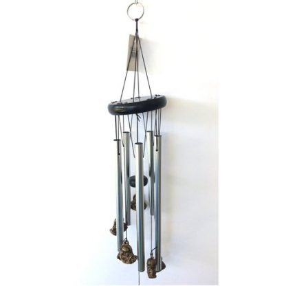 7 Happy Buddha Silver & Gold Wind Chime Garden Hanging Mobile