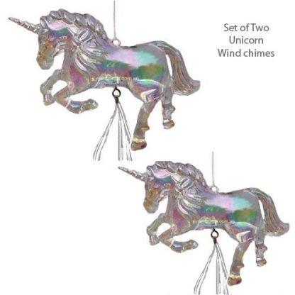 unicorn wind chimes set of two