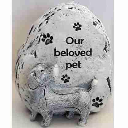 Pet Memorial Statue Dog Sentiment Stone