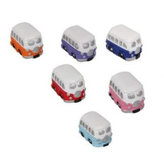 A lovely gift pack of combi van cars to decorate around your house fairy garden or cake decorating (not edible) Use indoors or outdoors One unique designs /six colours DIMENSIONS: H:3cm x W:3cm x D1.5cm approximate sizes This listing is for a full set of 24 KOMBI / COMBI VAN statues - not edible