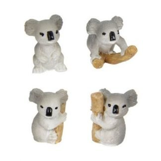 24 x Miniature Koala Statue Figurine Fairy Garden or Cake Decoration