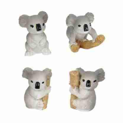 24 x Miniature Koala Statue Figurine Fairy Garden or Cake Decoration