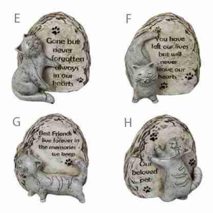 Cat Memorial Stone Inspirational Sayings 4 Designs