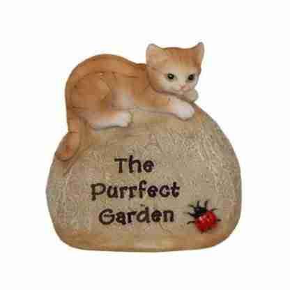 Pet Rock Cat Garden Statue