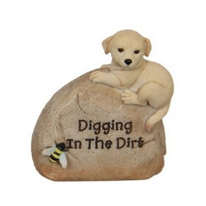 Pet Rock Puppy Dog Garden Statue